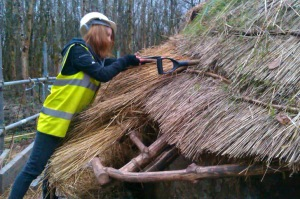 Stuff-thatching the roof