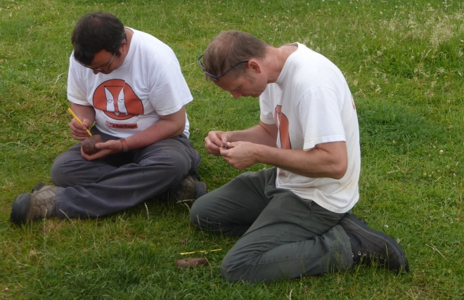 CAER Heritage project directors Dave and Olly looking focussed on the task in hand ...