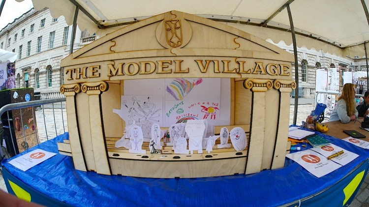 The Model Village Theatre set created by MAKERS, Sheffield.